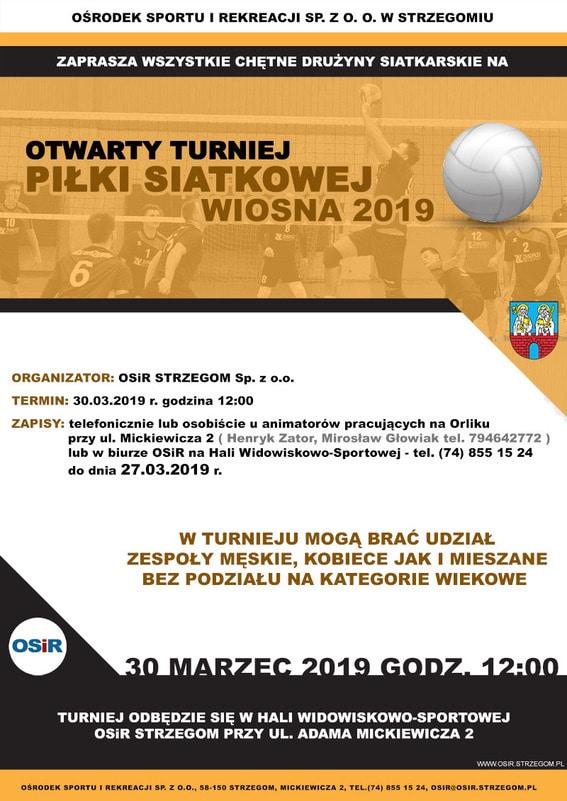 Otwarty Turniej Piłki Siatkowej WIOSNA 2019
